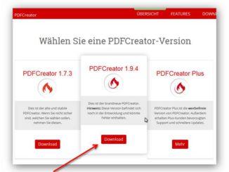 PDF Creator installieren und PDFs erstellen