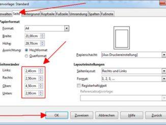 Erstellung mit LibreOffice Writer