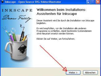 Inkscape installieren