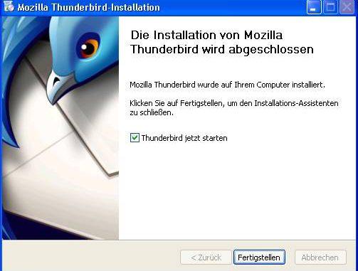Thunderbird Installieren